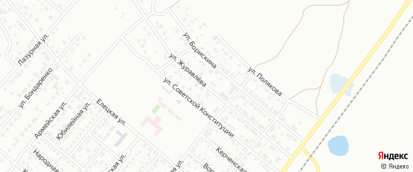 Улица Журавлева на карте Копейска с номерами домов
