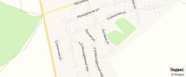 Луговая улица на карте села Калачево с номерами домов