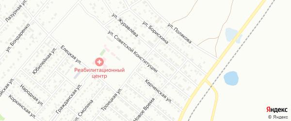 Улица Советской Конституции на карте Копейска с номерами домов