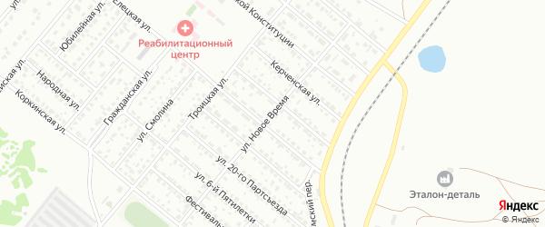 Улица Новое Время на карте Копейска с номерами домов