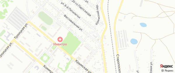 Крымский переулок на карте Копейска с номерами домов