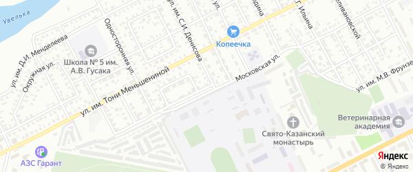 Московская улица на карте Троицка с номерами домов