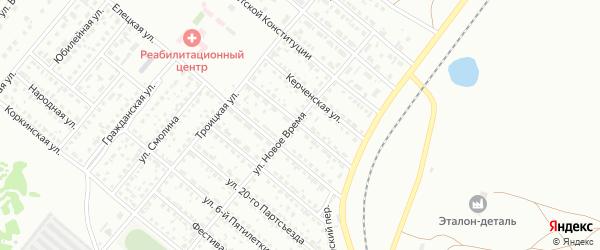 Воронежская улица на карте Копейска с номерами домов
