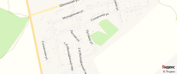 Лесная улица на карте села Калачево с номерами домов