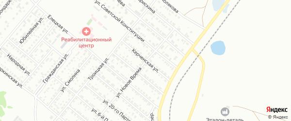 Керченская улица на карте Копейска с номерами домов