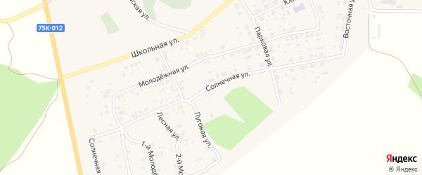 Солнечная улица на карте села Калачево с номерами домов
