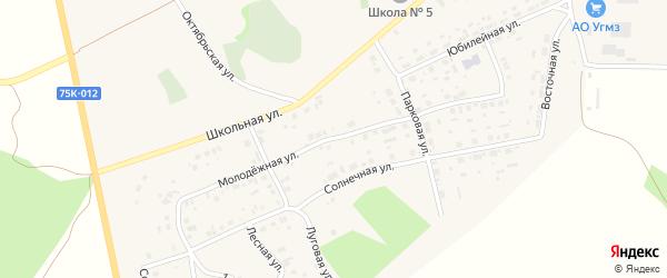 Молодежная улица на карте села Калачево с номерами домов