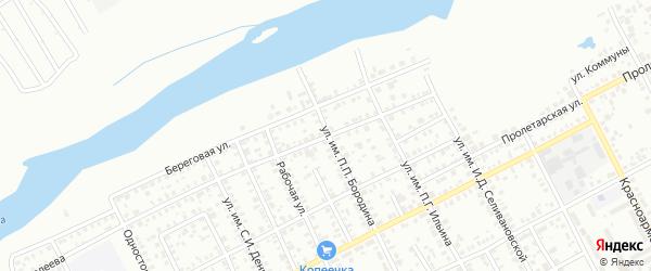 Улица им В.В.Васильева на карте Троицка с номерами домов