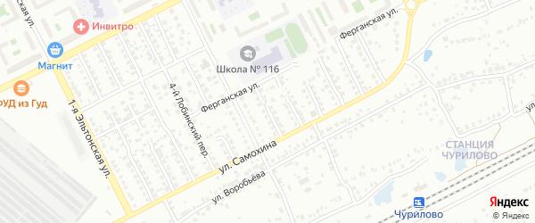 Лобинский 6-й переулок на карте Челябинска с номерами домов