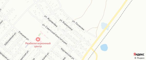 Улица Борискина на карте Копейска с номерами домов