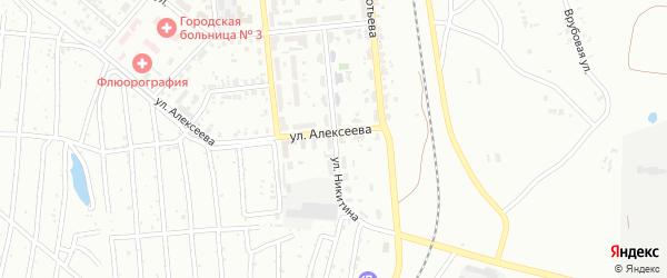 Улица Никитина на карте Копейска с номерами домов