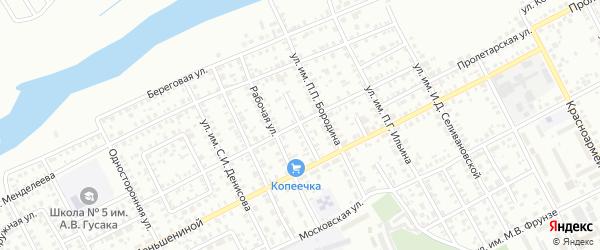 Улица Коммуны на карте Троицка с номерами домов