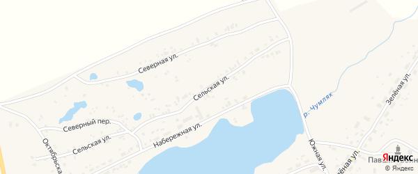 Сельская улица на карте Копейска с номерами домов