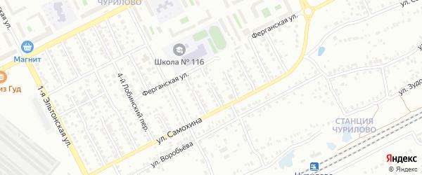 Лобинский 7-й переулок на карте Челябинска с номерами домов