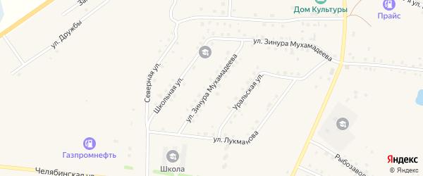 Улица З.Г.Мухамадиева на карте села Кунашака с номерами домов