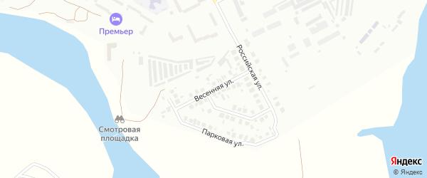Весенняя улица на карте Троицка с номерами домов
