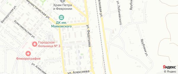 Улица Федотьева на карте Копейска с номерами домов