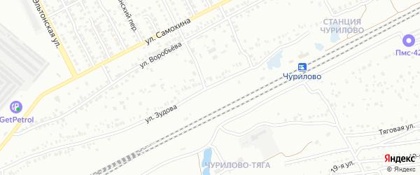Улица Зудова на карте Челябинска с номерами домов