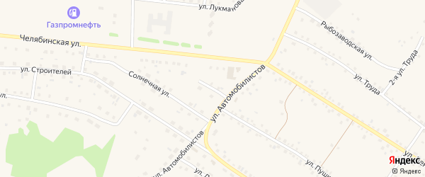 Улица Мира на карте села Кунашака с номерами домов