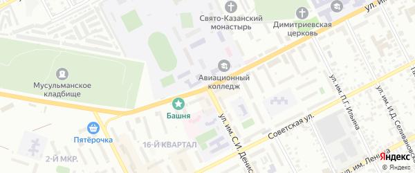 Улица им С.И.Денисова на карте Троицка с номерами домов