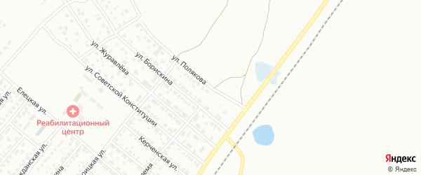 Улица Полякова на карте Копейска с номерами домов