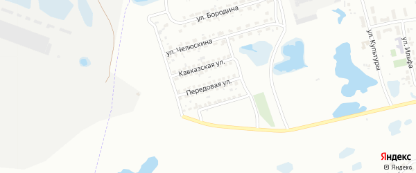 Передовая улица на карте Копейска с номерами домов