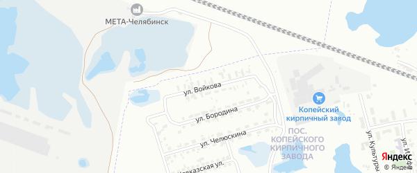 Улица Войкова на карте Челябинска с номерами домов