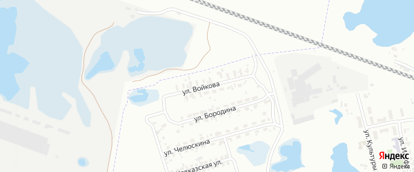 Улица Войкова на карте Копейска с номерами домов