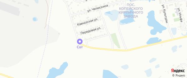 Улица Космонавтов на карте Копейска с номерами домов