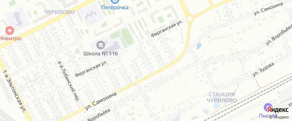 Лобинский 9-й переулок на карте Челябинска с номерами домов