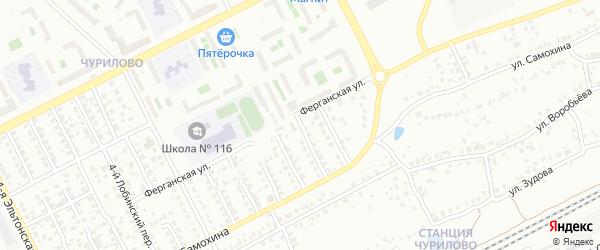 Лобинский 10-й переулок на карте Челябинска с номерами домов