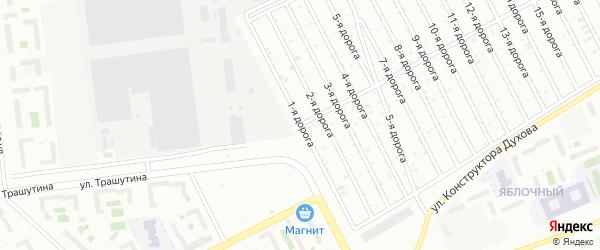 Сад Любитель-3 дорога 1 на карте Челябинска с номерами домов