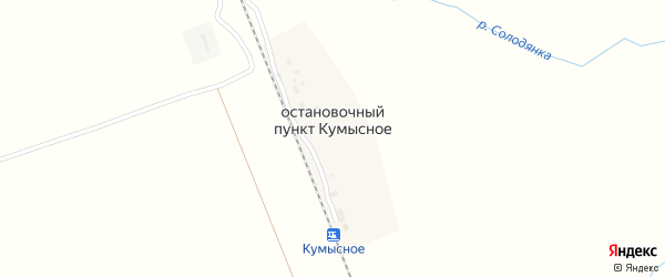 Пристанционная улица на карте поселка Остановочный пункт Кумысное с номерами домов