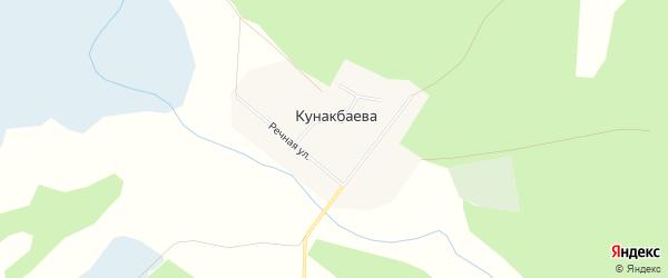 Карта деревни Кунакбаева в Челябинской области с улицами и номерами домов