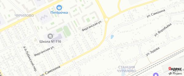 Лобинский 11-й переулок на карте Челябинска с номерами домов