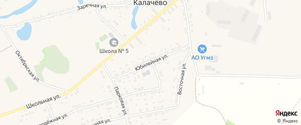 Юбилейная улица на карте села Калачево с номерами домов