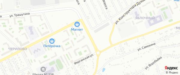 Улица Сергея Герасимова на карте Челябинска с номерами домов