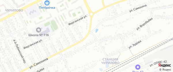 Улица Самохина на карте Челябинска с номерами домов