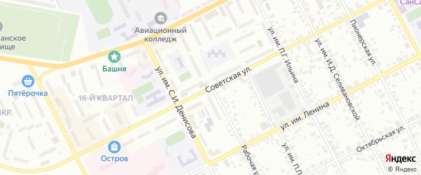 Рабочая улица на карте Троицка с номерами домов
