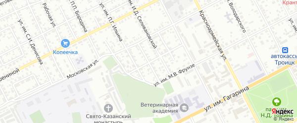 Улица им Лизы Чайкиной на карте Троицка с номерами домов