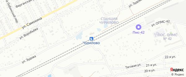 Станция Чурилово 2109 км на карте Челябинска с номерами домов