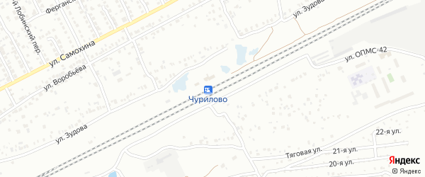 Станция Чурилово 2108 км на карте Челябинска с номерами домов