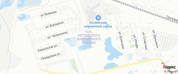 Улица Поселок Кирпичного завода 3 на карте Челябинска с номерами домов