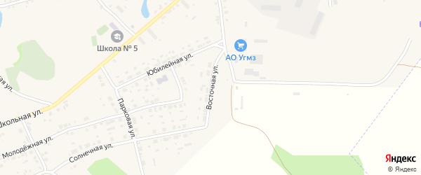 Восточная улица на карте села Калачево с номерами домов