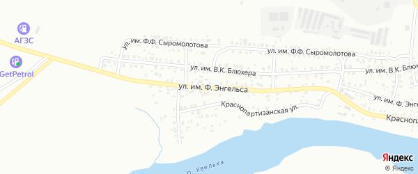 Улица им Ф.Энгельса на карте Троицка с номерами домов