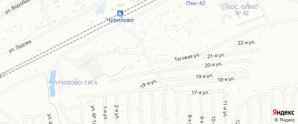 Тяговая улица на карте Челябинска с номерами домов