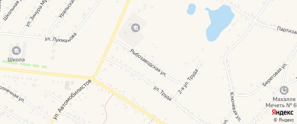 Рыбозаводская улица на карте села Кунашака с номерами домов