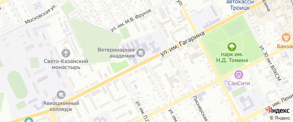 Улица им И.Д.Селивановской на карте Троицка с номерами домов