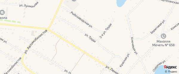 Улица Труда на карте села Кунашака с номерами домов