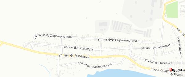Улица им Ф.Ф.Сыромолотова на карте Троицка с номерами домов